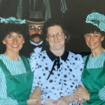 L-R: Denise Evans, wardrobe mistress, Marion Thomas, Glen Jones