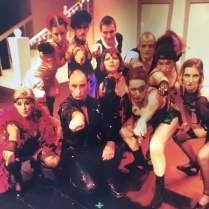 Steve Davies as Emcee along with the terrifying Kit Kat girls and the waiters