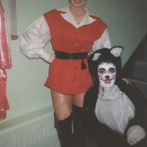 Lydia Griffiths as Dick Whittington. Sally Dillon as Tommy the Cat.