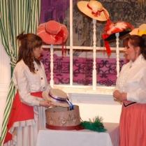 Ceri Humphreys as Minnie Fay and Jo Lloyd as Irene Molloy