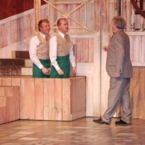 Chris Peate as Barnaby Tucker, Paul Kirkbright as Cornelius Hackl and kevin Keegan as Vandergelder