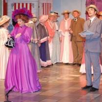 Sandra Jones as Dolly Levi and Stephen Webb as Ambrose Kemper
