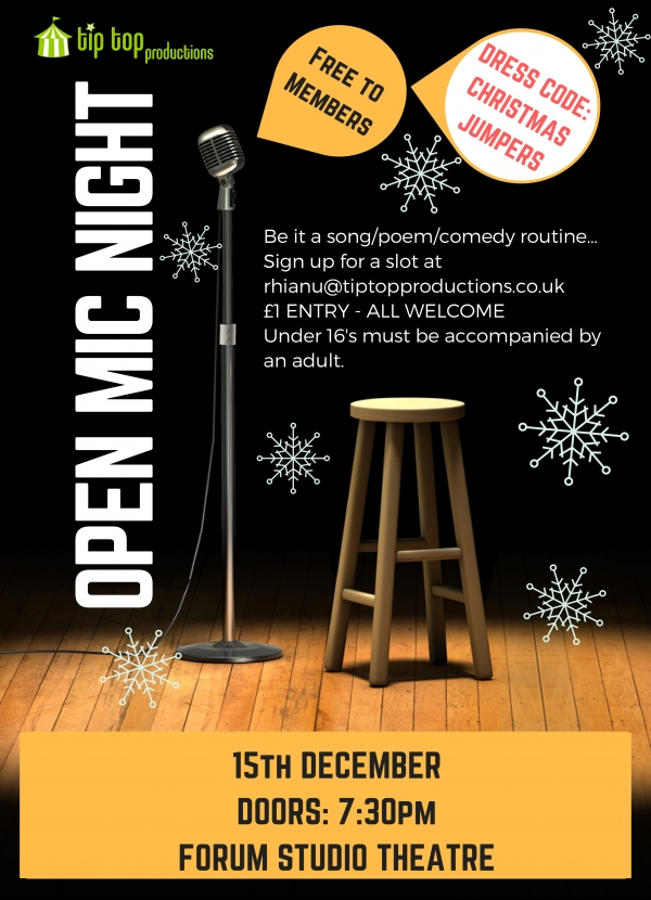Christmas Open Mic Night