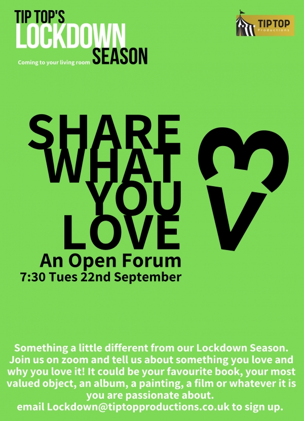 Share What You Love - An Open Forum